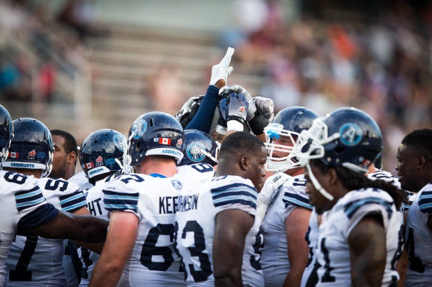 Toronto Argonauts during the CFL pre-season game at the Montreal Percival-Molson stadium on Thursday, June 18, 2015. (PHOTO: JOHANY JUTRAS / CFL)