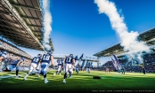 Argos players make their entrance on the field before the home opener game against the Hamilton Tiger-Cats at BMO Field in Toronto, ON. on Thursday, June 23, 2016.  (Photo: Johany Jutras / Toronto Argonauts)